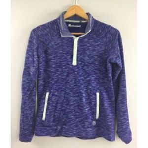 Avalanche Sweatshirt Womens Purple Small Snap Top